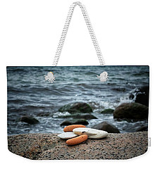 Weekender Tote Bag featuring the photograph Rock Collection by Karen Stahlros