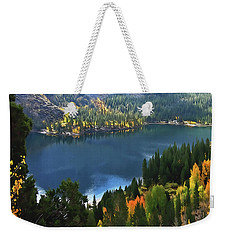 Rock Creek Lake In Fall Weekender Tote Bag