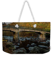 Weekender Tote Bag featuring the photograph Rock Creek Park Bridge by Ed Clark