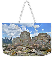 Rock Cropping At Big Horn Pass Weekender Tote Bag
