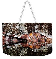 Rock Face Reflected Weekender Tote Bag