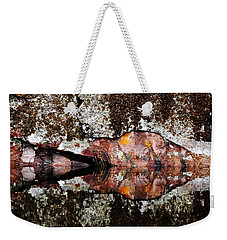 Rock Face Reflected Weekender Tote Bag
