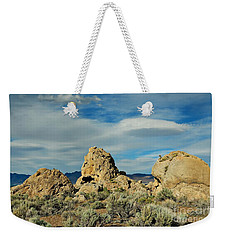 Weekender Tote Bag featuring the photograph Rock Formations At Pyramid Lake by Benanne Stiens