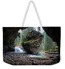 Rock In Johnston Canyon Weekender Tote Bag