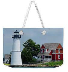 Rock Island Lighthouse July Weekender Tote Bag