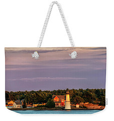 Rock Island Lighthouse Weekender Tote Bag