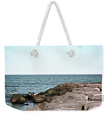Weekender Tote Bag featuring the photograph Rock Jetty by Colleen Kammerer