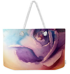 Weekender Tote Bag featuring the painting Rock-n-hard Place by Allison Ashton