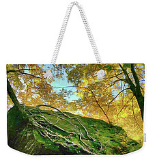 Weekender Tote Bag featuring the photograph Rock Of Ages by Jeff Folger