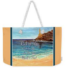 Rock Of Ages Let Me Hide Myself In Thee Weekender Tote Bag by Kimberlee Baxter