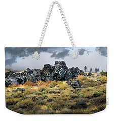 Weekender Tote Bag featuring the photograph Rock Outcrop by Frank Wilson