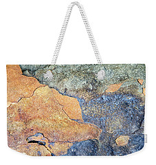 Weekender Tote Bag featuring the photograph Rock Pattern by Christina Rollo