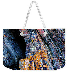 Weekender Tote Bag featuring the photograph Rock Pattern Sc01 by Werner Padarin