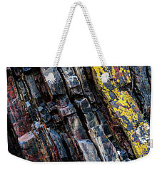 Weekender Tote Bag featuring the photograph Rock Pattern Sc02 by Werner Padarin
