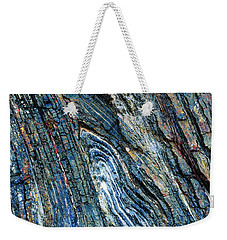 Weekender Tote Bag featuring the photograph Rock Pattern Sc03 by Werner Padarin