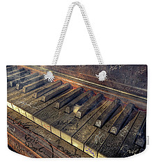 Rock Piano Fantasy Weekender Tote Bag by Mal Bray