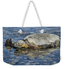 Weekender Tote Bag featuring the photograph Rock Pillow by Pamela Walton