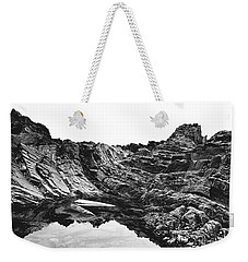 Weekender Tote Bag featuring the photograph Rock by Rebecca Harman