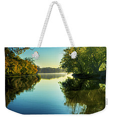 Rock River Autumn Morning Weekender Tote Bag