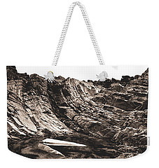 Rock - Sepia Detail Weekender Tote Bag