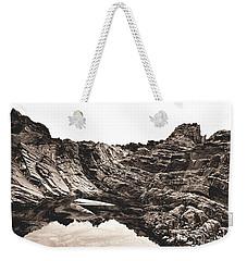 Rock - Sepia Weekender Tote Bag