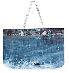Rock Solid Frozen Weekender Tote Bag by Jason Nicholas