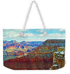 Weekender Tote Bag featuring the photograph Rock Solid by Roberta Byram