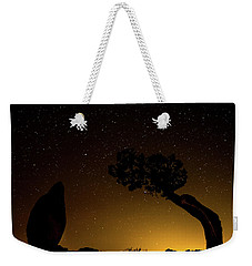 Weekender Tote Bag featuring the photograph Rock, Tree, Friends by T Brian Jones