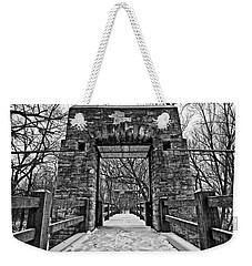 Rock Wood Steel Weekender Tote Bag