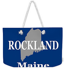Weekender Tote Bag featuring the photograph Rockalnd Maine State City And Town Pride  by Keith Webber Jr