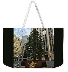 Rockefeller Center Christmas Tree Weekender Tote Bag
