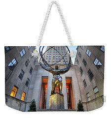 Rockefeller Centre Atlas - Nyc - Vertorama Weekender Tote Bag