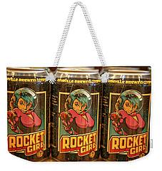 Rocket Girl Weekender Tote Bag by Dennis Baswell