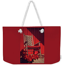 Weekender Tote Bag featuring the photograph Rockin' Red by Jessica Brawley