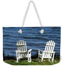 Rocking Adirondak Chairs On The Maine Coast Weekender Tote Bag