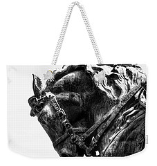Weekender Tote Bag featuring the photograph Rocking Horse by AJ Schibig