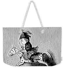 Weekender Tote Bag featuring the digital art Rocking Horse by Pennie McCracken