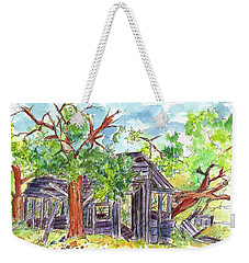 Weekender Tote Bag featuring the painting Rockland Cabin by Cathie Richardson