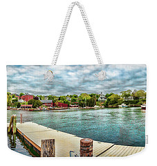 Weekender Tote Bag featuring the photograph Rockport Inner Harbor by Daniel Hebard