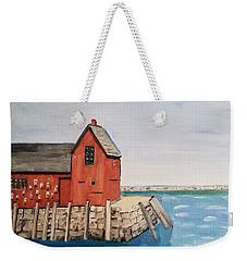 Rockport Motif In Winter Weekender Tote Bag