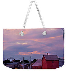 Weekender Tote Bag featuring the photograph Rockport Sunset Over Motif #1 by Jeff Folger