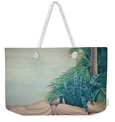 Rocks And Palm Tree Weekender Tote Bag