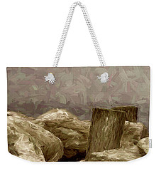 Rocks And Pilings Weekender Tote Bag