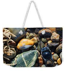 Rocks And Shells On Sandy Neck Beach Weekender Tote Bag