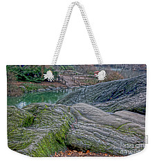 Weekender Tote Bag featuring the photograph Rocks At Central Park by Sandy Moulder