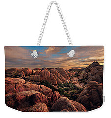 Rocks At Sunrise Weekender Tote Bag