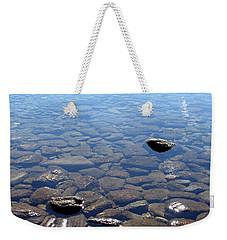 Rocks In Calm Waters Weekender Tote Bag