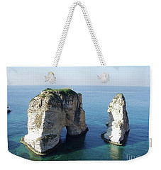 Rocks In Sea Weekender Tote Bag