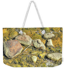 Rocks In Water Weekender Tote Bag