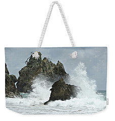 Rocks Of Coromandel, New Zealand Weekender Tote Bag by Yurix Sardinelly